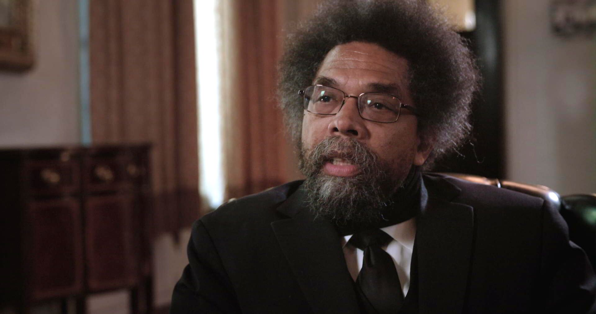 "Dr. Cornell West appears in ""What is Democracy"""
