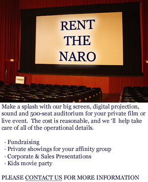 Naro Cinema available for private rental