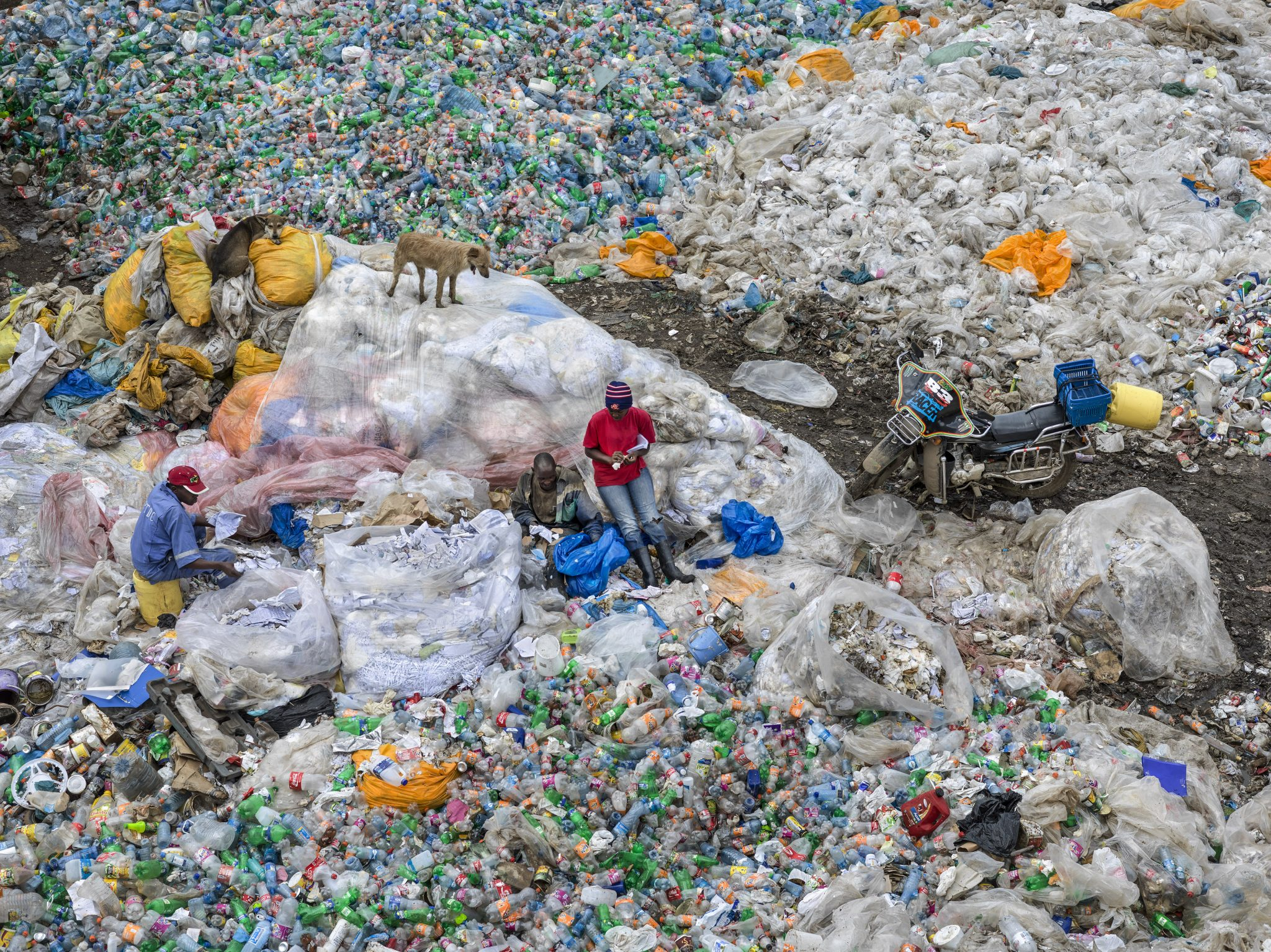 "450 million metric tons of plastic are produced each year (from film ""Anthropocene"""