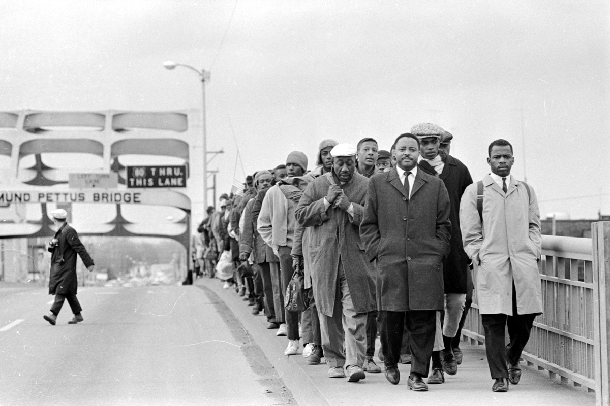 John Lewis on Pettus Bridge freedom march, 1965